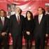 En la vista la ministra Magali Silva está acompañada en el acto inaugural por el embajador de Estados Unidos en el Perú, Bryan A. Nichols; el director del museo, Kevin Gover; y el embajador del Perú en Estados Unidos, Luis Miguel Castilla.