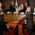 El ministro del Interior, José Luis Pérez Guadalupe, tomó el juramento de estilo al General Jorge Flores Goicochea, flamante viceministro de Orden Interno.