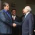 El expresidente Alan García y el primer ministro Pedro Cateriano sostuvieron hoy una reunión que duró más de una hora.