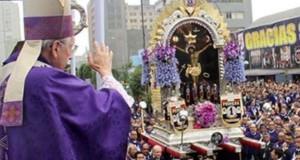 Con una misa oficiada a las 6.30 de la mañana por el Cardenal Juan Luis Cipriani, se iniciará su recorrido por las calles de Lima.