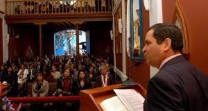 El presidente del Poder Legislativo, Luis Iberico Núñez, hizo esta reflexión durante la misa oficiada por el segundo aniversario de la elevación a Santo del Papa Juan Pablo II.