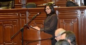 La ministra de Relaciones Exteriores, Ana María Sánchez, sustentó hoy el presupuesto general de su sector ante el Pleno del Congreso de la República.