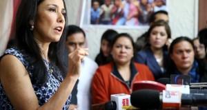 La esposa del presidente de la República, Nadine Heredia, remarcó en el contenido de las agendas no hay delito alguno, no hay lavado de activos. (Foto ANDINA).