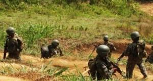 Efectivos militares de la Base Contra Terrorista de Unión Mantaro del Comando Especial del Vraem, intercambiaron disparos con dos presuntos delincuentes terroristas.