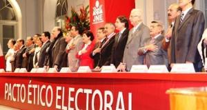 Con la suscripción de este acuerdo, el Jurado Nacional de Elecciones busca propiciar un escenario idóneo para el proceso electoral del 10 de abril del próximo año.