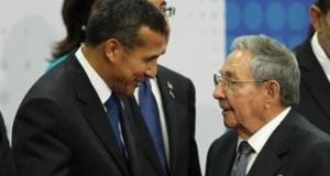 El presidente Ollanta Humala se volverá a reunir con su homólogo cubano Raúl Castro.
