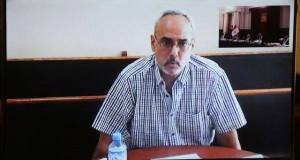 Manuel Burga participó en la audiencia de la Corte Suprema a través de una videoconferencia, desde el Penal de Piedras Gordas, Ancón, donde se encuentra recluido.