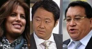 Siguen en carrera por su reelección al Congreso de la República, los candidatos Carmen Omonte, Kenji Fujimori y José Luna.