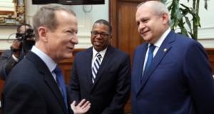 La importante reunión del realizó en la sede de la Presidencia del Consejo de Ministros.