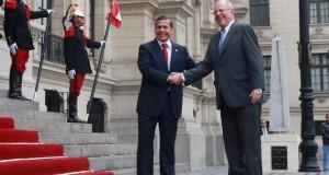 El presidente Ollanta Humala recibió en el Patio de Honor de Palacio de Gobierno, al mandatario electo, Pedro Pablo Kuczynski.