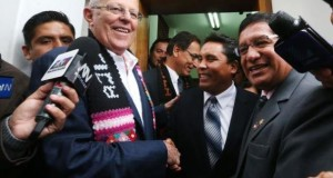 El anuncio lo hizo el presidente electo Pedro Pablo Kuczynski luego de reunirse con los gobernadores regionales Glodoaldo Alvarez Ore (Huancavelica) y Ángel Unchupaico Canchumani (Junín).