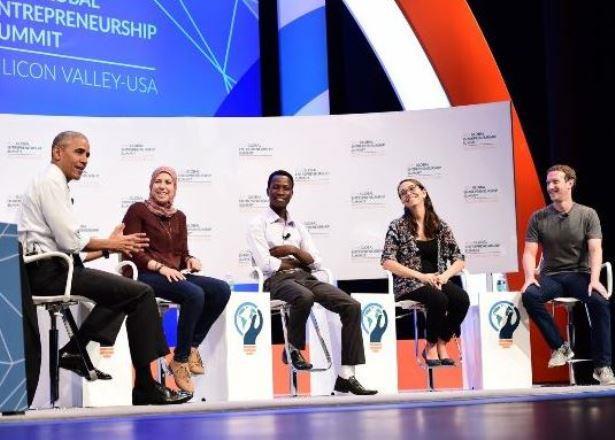 La emprendedora Mariana Costa conversó con el presidente Barack Obama y Mark Zuckerberg, en el evento de emprendedores desarrollado en Palo Alto, California.
