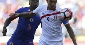El delantero peruano Paolo Guerrero marcó el único tanto a los 60 minutos de juego.