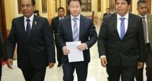 Justiniano Apaza, Kenji Fujimori y Marvin Palma son los congresistas de la Junta Preparatoria del Congreso de la República.