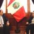 El primer ministro Fernando Zavala sostuvo hoy una cordial reunión con la presidenta del Congreso, Luz Salgado, en la sede del Palacio Legislativo.