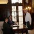 El presidente Pedro Pablo Kuczynski otorgó la responsabilidad de conducir la anunciada Comisión Presidencial de Integridad al exdedfensor del Pueblo, Eduardo Vega. Aquí en el despacho acompañado del jefe del Gabinete Ministerial, Fernando Zavala.