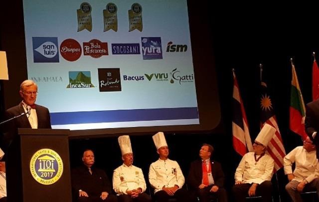 Las empresas peruanas premiadas en Bruselas, son: Industrias San Miguel, Socosani, San Luis, Yura, Backus & Johnston, BQB Export, Finca Rotondo, Incasur, Danper, Virú y Arsenna.