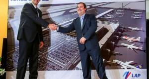 El gerente general de LAP, Juan José Salmón, y el ministro de Transportes y Comunicaciones, Bruno Giuffra, destacaron que con la ampliación nuestro aeropuerto atenderá de manera eficiente el constante incremento de pasajeros.