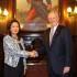 El presidente Pedro Pablo Kuczynski y la lideresa de Fuerza Popular, Keiko Fujimori, sostuvieron esta tarde una grata conversación en Palacio de Gobierno.