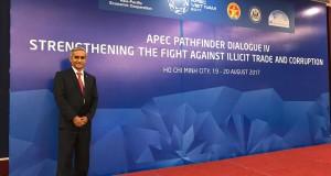 El presidente del Poder Judicial, Duberlí Rodríguez expone en Vietnam sobre la lucha contra la corrupción.
