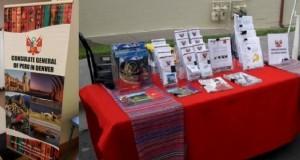 El Consulado General del Perú en Denver, Estados Unidos, tuvo una importante participación en el evento ofreciendo a través de folletería e impresos, información detallada de nuestro país.