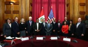 Presidente del Congreso, Luis Galarreta, recibe a miembros de la Cámara de Representantes de Estados Unidos.