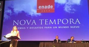 Jefa del Gabinete Ministerial, Mercedes Aráoz, en Encuentro Nacional de la Empresa en Santiago de Chile